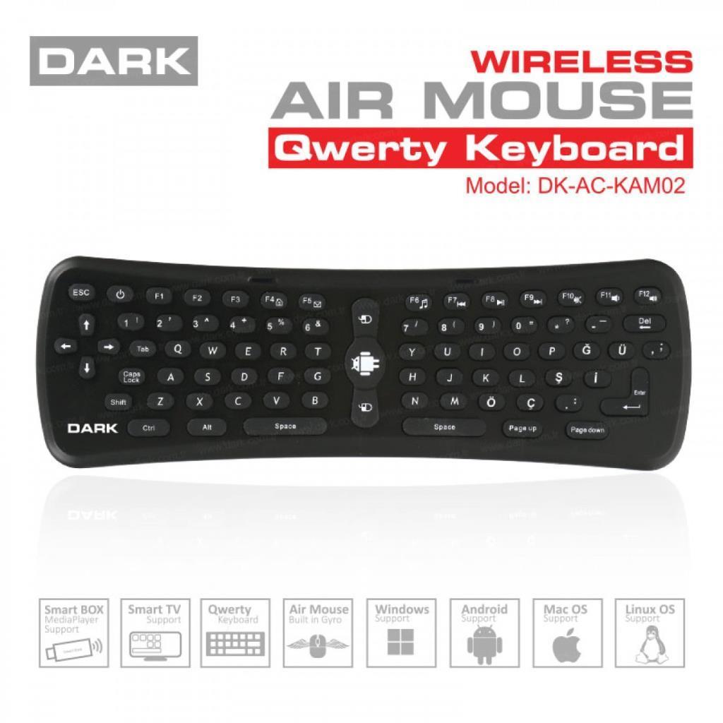 Dark Hareket Sensörlü Hava Faresi ve Qwerty Klavye